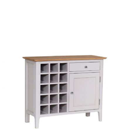 Newhaven Grey Painted Wine Cabinet